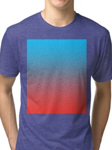 Retro 3D Dithered Gradient Tri-blend T-Shirt