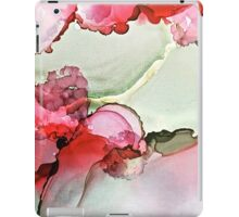 Red and green abstract landscape  iPad Case/Skin