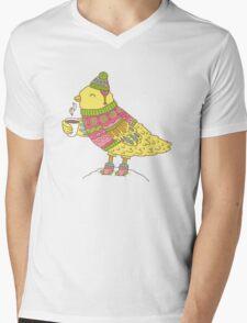Winter bird Mens V-Neck T-Shirt