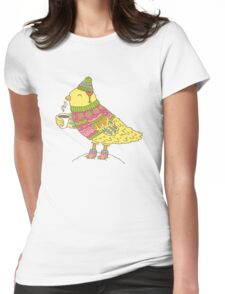 Winter bird Womens Fitted T-Shirt