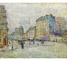 1887-Vincent van Gogh-Boulevard de Clichy Photographic Print