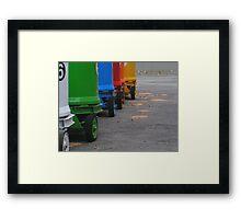 Rainbow on wheels Framed Print