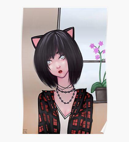 Miss Kitty Black  Poster