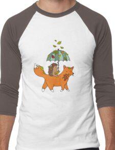 Hedgehog and fox Men's Baseball ¾ T-Shirt