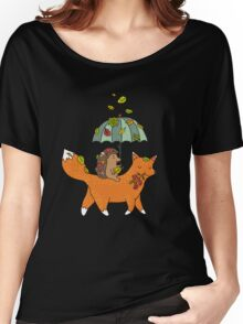 Hedgehog and fox Women's Relaxed Fit T-Shirt