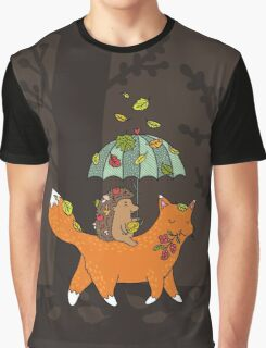 Hedgehog and fox Graphic T-Shirt