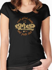 Espresso Brewing Women's Fitted Scoop T-Shirt
