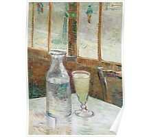 1887-Vincent van Gogh-Café table with absinth-33x46 Poster