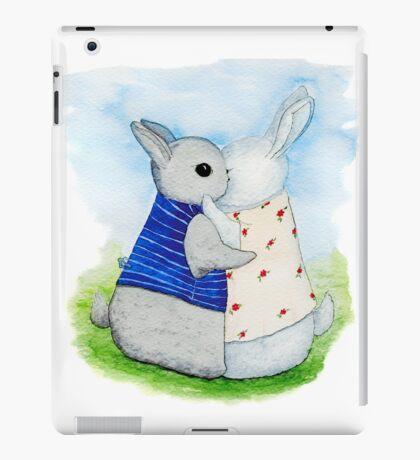 two Bunny hug iPad Case/Skin
