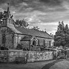 Saint Aidan's Church, Gillamoor. (Mono). by Colin Metcalf