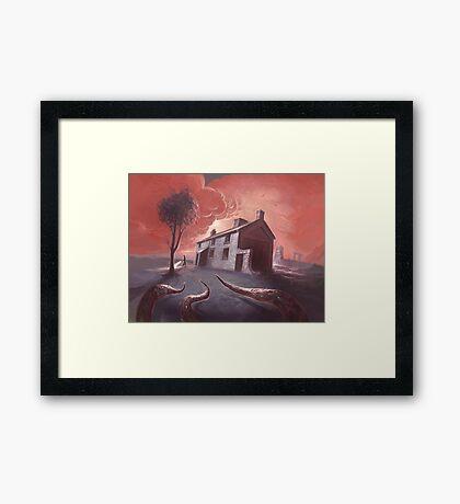 Isolated House Framed Print