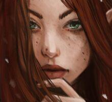 Redhead Elf  Sticker