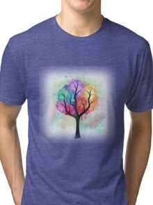 Awesome abstract pastel colors oil paint tree of Life Tri-blend T-Shirt