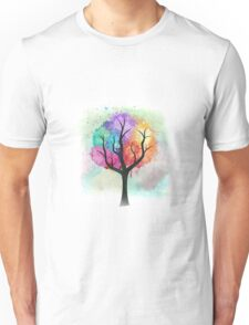 Awesome abstract pastel colors oil paint tree of Life Unisex T-Shirt