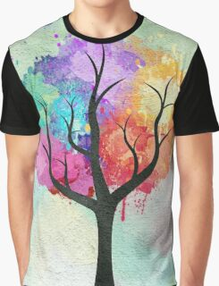 Awesome abstract pastel colors oil paint tree of Life Graphic T-Shirt