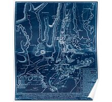 American Revolutionary War Era Maps 1750-1786 196 A plan of New York Island with part of Long Island Staten Island & east New Jersey with a particular Inverted Poster