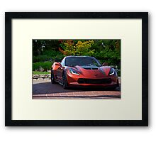 201X Chevrolet Corvette 'Copper Head' C7 Framed Print