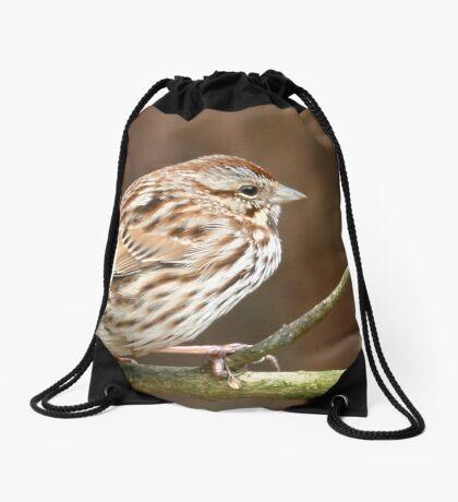 Song Sparrow Drawstring Bag