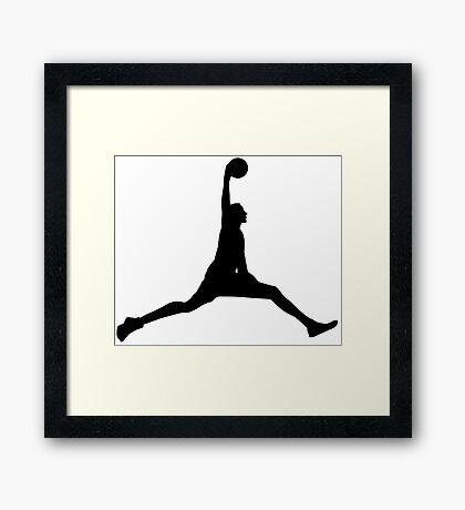 Basketball Dunk Framed Print
