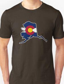 Alaska outline Colorado flag Unisex T-Shirt