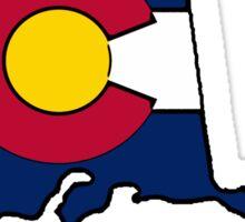 Alaska outline Colorado flag Sticker