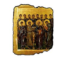 Twelve Disciples, Synaxis, Christianity, Twelve Apostles, Russian, 14th century, Moscow Museum. Photographic Print