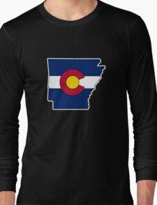Arkansas Colorado flag Long Sleeve T-Shirt
