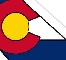 California outline Colorado flag Sticker