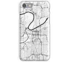 Kansas City Map Gray iPhone Case/Skin