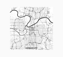 Kansas City Map Gray Unisex T-Shirt