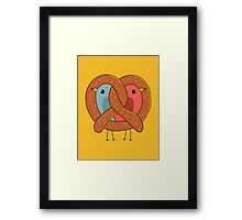 Love in pretzel Framed Print