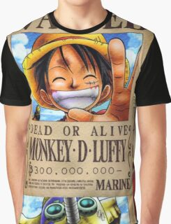Straw Hat Pirates: WANTED Graphic T-Shirt