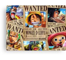 Straw Hat Pirates: WANTED Canvas Print
