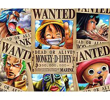 Straw Hat Pirates: WANTED Photographic Print