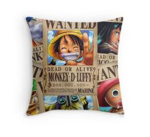 Straw Hat Pirates: WANTED Throw Pillow