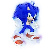 Sonic Watercolor Photographic Print