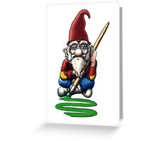 Painting Elf (Gnome) Greeting Card