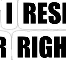 Disagree Stupid Sticker