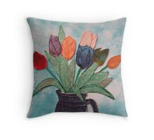 Tulips in a Vase 15B Throw Pillow