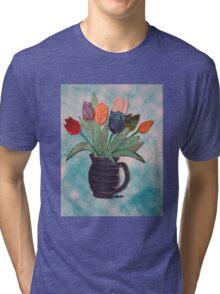 Tulips in a Vase 15B Tri-blend T-Shirt