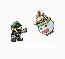 Paper Luigi vs. Paper Bowser Jr. Unisex T-Shirt