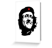 CORBYN, Comrade Corbyn, Leader, Labour Party, Black on White Greeting Card