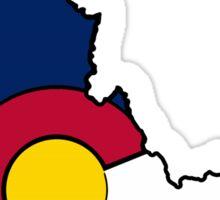 Idaho outline Colorado flag Sticker