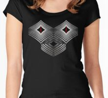 Robot Skull Women's Fitted Scoop T-Shirt
