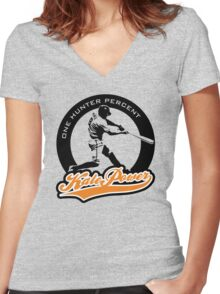 Kale Power Women's Fitted V-Neck T-Shirt