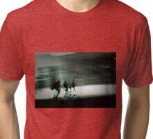 Cyclists at Dusk Tri-blend T-Shirt