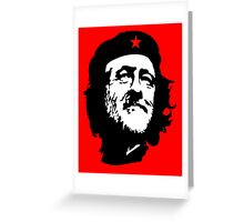 CORBYN, Comrade Corbyn, Leader, Labour Party, Black on RED Greeting Card