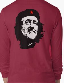 CORBYN, Comrade Corbyn, Leader, Labour Party, Politics, Black on RED Long Sleeve T-Shirt