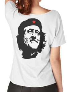 CORBYN, Comrade Corbyn, Leader, Labour Party, Politics, Black on RED Women's Relaxed Fit T-Shirt