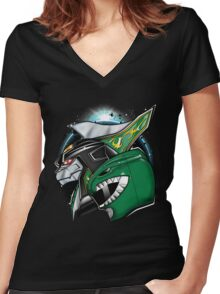 Battlemode Women's Fitted V-Neck T-Shirt